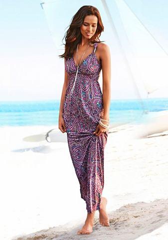 Платье пляжное с регулируемый вырез