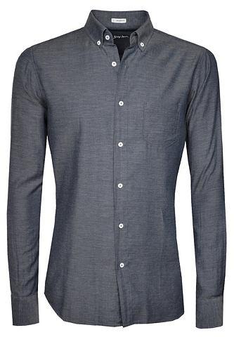 Лёгкий рубашка с Button-Down-Kragen