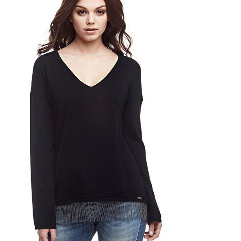 Пуловер вставка на кромка