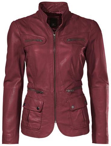 Куртка кожаная в Used-Look