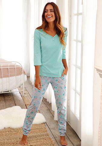 Пижама с c рукавом три четверти (3/4) и пуговицы