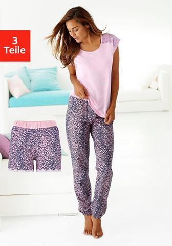 Пижама в комплекте (3 tlg.) в узор лео...