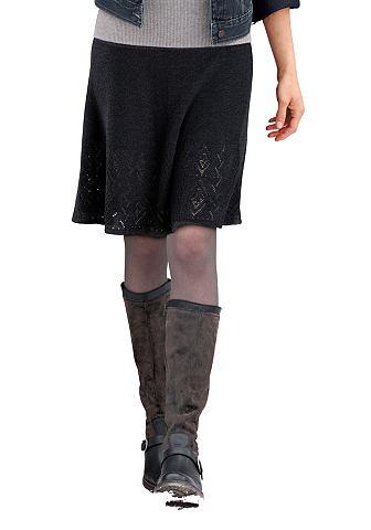 Шерстяная юбка с ажурный узор