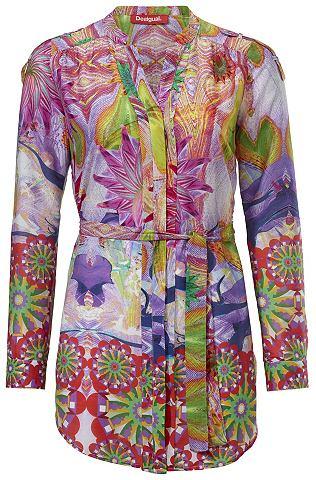 Блузка с набивным рисунком с пояс