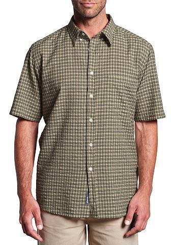 Seersucker рубашка с короткими рукавам...