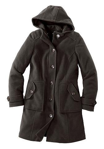 Пальто шерстяное с капюшон