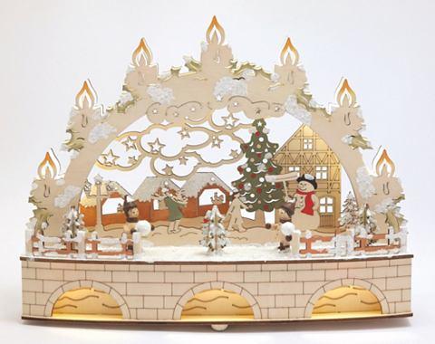 Декорация детские в Schnee с beleuchte...