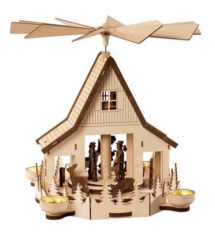 Pyramide Waldhaus для 4 Teelichte