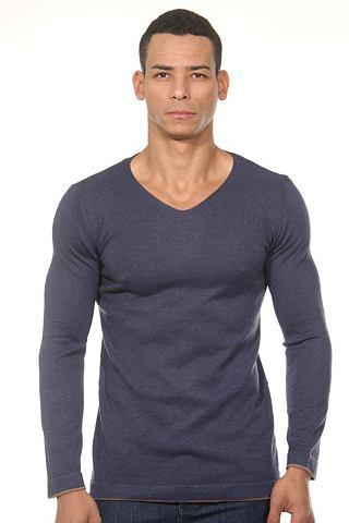 Пуловер с V-образным вырезом regular ф...