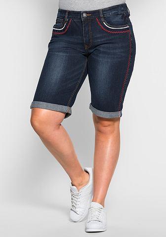 Шорты узкие джинсы