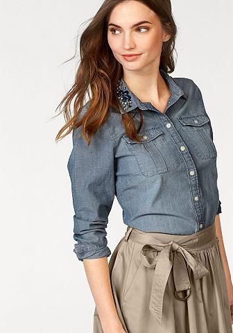 Mc GREGOR NEW YORK 1921 джинсовая блуз...