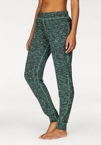 Пестрый брюки с манжет на кромка