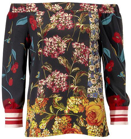 Блузка с набивным рисунком с сочетание...