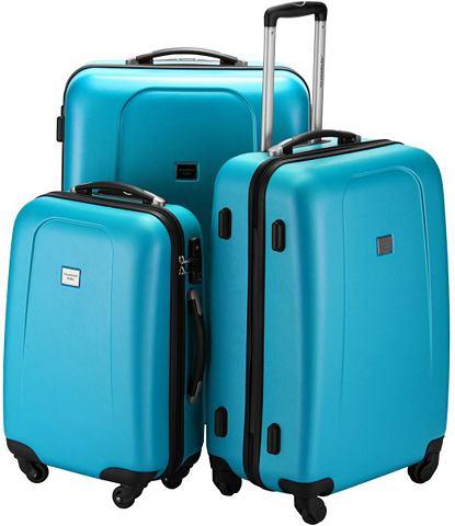 Пластиковый чемодан на колесиках компл...