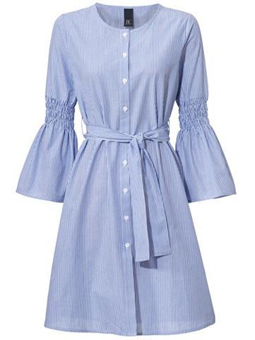 Платье в полоску с колокольчиковидные ...
