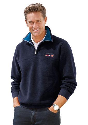 Флисовий пуловер с окантовка