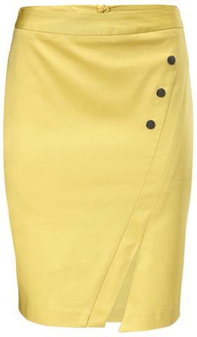 Мини-юбка с широкий пояс