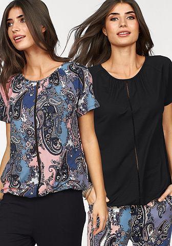 Блуза с круглым вырезом (Набор 2 ч.)