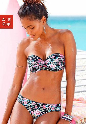 Пляжный купальник с цветочным узором