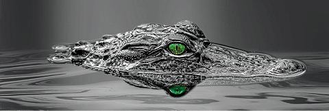 Картина »Alligator Eyes« T...