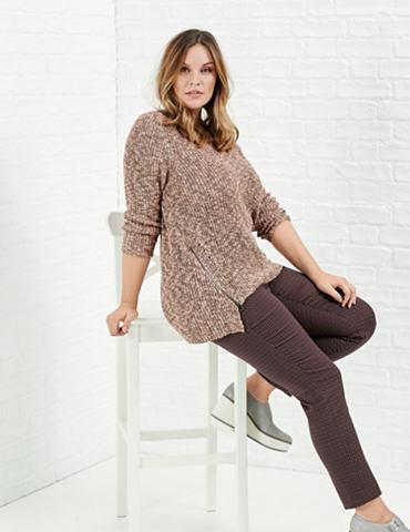Пуловер длинный рукав с круглым вырезо...