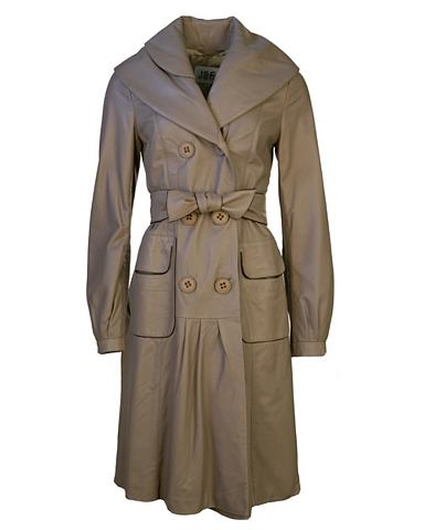 Пальто кожаное для женсщин SM-06