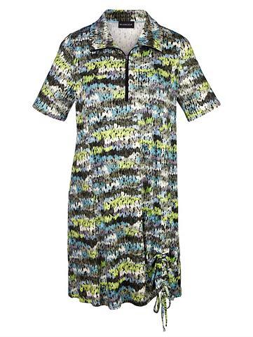Платье с драпировка на кромка