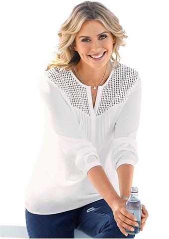Блуза с Spitzen-Partie