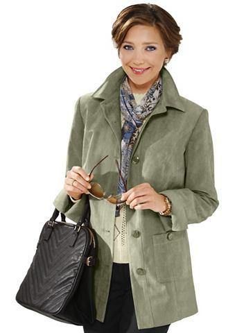 Куртка в модный имитация замша