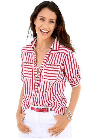 Блуза с модный Streifen дизайн