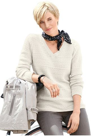 Пуловер с красивый Strickstruktur