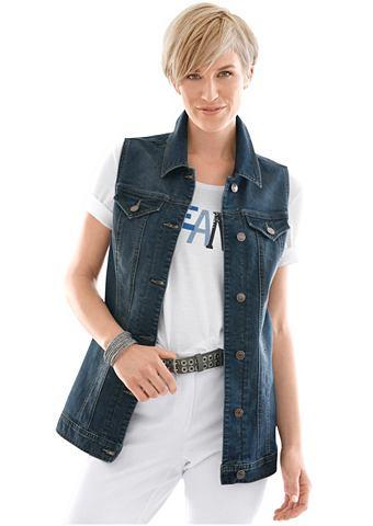 Жилет джинсовый с längerem фасон