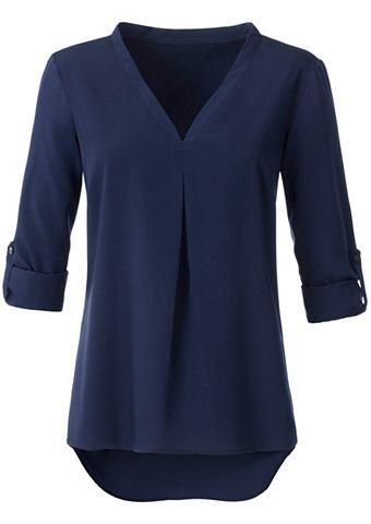 Блузка длинная с с V-образным вырезом