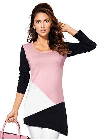 Пуловер с модный узор