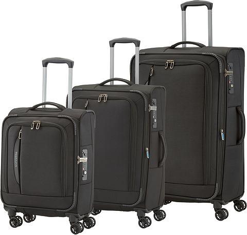 Текстильный чемодан комплект с 4 колес...