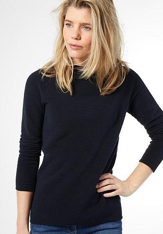 Gerippter высоким воротником пуловер