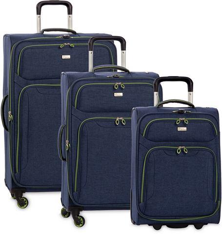 Текстильный чемодан комплект с 2/4 кол...