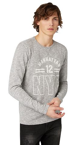 Пуловер Свитер с Schriftzug-Print&laqu...