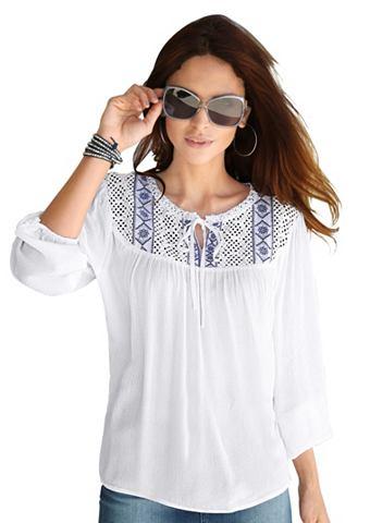 Блуза в мягкий Borkenkrepp-Qualit