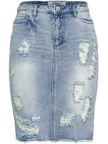 Длинa Used-Look юбка джинсовая
