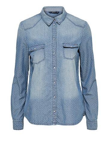 С длинными рукавами рубашка джинсовая