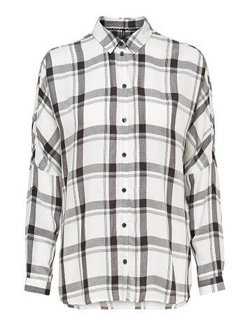 Клетчатый рубашка с длинными рукавами