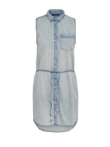 Джинсовый платье без рукав