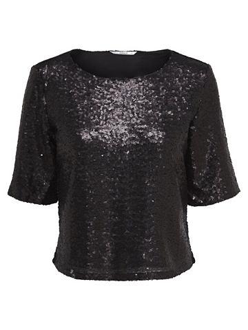 Пайетки блуза с 2/4 рукавами