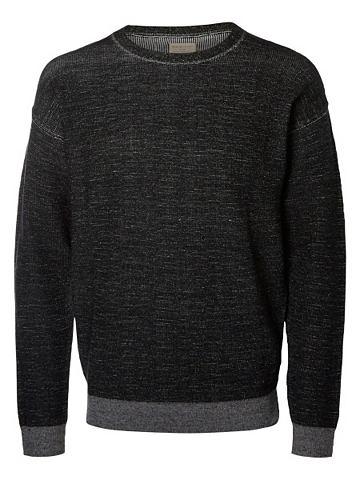 Круглый вырез пуловер трикотажный