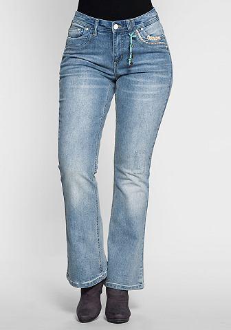 Узкие джинсы Kleiner кулон vorn