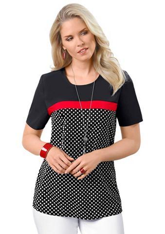 Блузка-рубашка с круглым вырезом