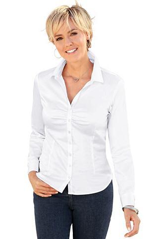 Блуза с декоративный драпировка