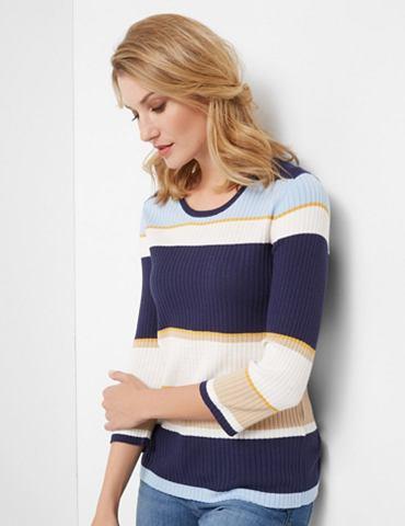 Пуловер 3/4 рукава с круглым вырезом