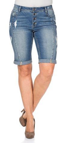 Sheego джинсы бермуды джинсовые